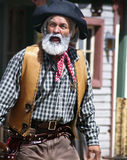 De oude Cowboy Sheriff van Wilde Westennen royalty-vrije stock foto