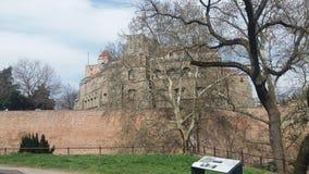 De oude dag van de het kasteelzon van Belgrado Royalty-vrije Stock Afbeeldingen