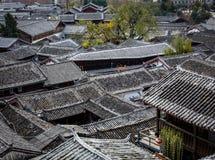 De oude daken van de Stad stock afbeelding