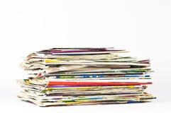 De oude de te recycleren boeken & kaarten van Dagboeken Stock Afbeeldingen