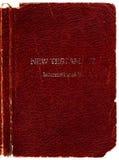 De oude dekking van de Bijbel van het Leer royalty-vrije stock foto