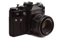 De oude die camera van de oldschoolfoto op witte achtergrond wordt geïsoleerd Royalty-vrije Stock Afbeelding