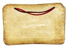De oude documenten van Grunge met kabel geïsoleerdet achtergrond Royalty-vrije Stock Foto