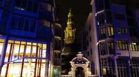 De Oude Domkyrka Amsterdam royaltyfri bild