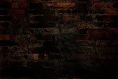 De oude donkere abstracte achtergrond van het baksteen grunge patroon Royalty-vrije Stock Foto