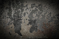 De oude donkere concrete achtergrond van muurhalloween Royalty-vrije Stock Foto