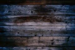 De oude donkere houten achtergrond van de muurnacht Royalty-vrije Stock Fotografie
