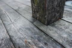 De oude donkere houten houten planken van het textuur natuurlijke patroon Royalty-vrije Stock Foto's