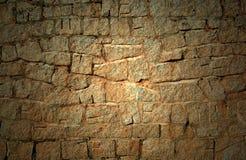 de oude donkere muur van de Steen   Royalty-vrije Stock Afbeelding