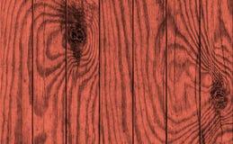 De oude Doorstane Gebarsten Geknoopte Kastanjebruine Rode Textuur van de Bevloerings Rustieke Grunge van het Pijnboomhout Royalty-vrije Stock Foto's