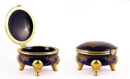 De oude doos van Juwelen Stock Afbeelding
