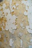 De oude Echte verf van de Muur grunge textuur, gele tonen stock foto