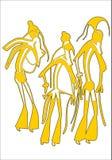 De oude Egyptenaren vector illustratie