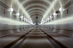 De Oude Elbe Tunnel Stock Afbeelding