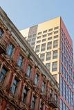 De oude en Moderne Gebouwen van de Stad Stock Foto