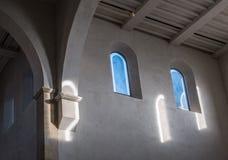 De oude en oude vensters in een ruimte Royalty-vrije Stock Foto