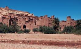De oude en versterkte stad van Ait Ben Haddhou in Marocco Stock Afbeelding