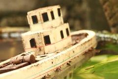 De oude en vuile modelscène van het visserijschip Royalty-vrije Stock Afbeelding