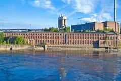 De oude fabrieksbouw royalty-vrije stock foto