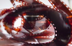 De oude film, abstractie, stak film aan Royalty-vrije Stock Foto's