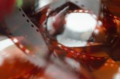 De oude film, abstractie, stak film aan Stock Afbeelding