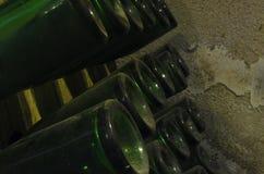 De oude Flessen van de Wijn Stock Afbeelding