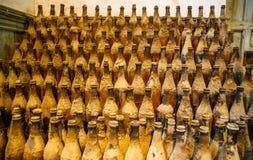 De oude Flessen van de Wijn Royalty-vrije Stock Foto's