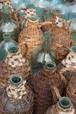 De oude Flessen van de Wijn Royalty-vrije Stock Afbeeldingen