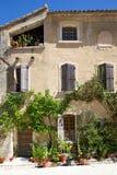 De oude Franse Buitenkant van het Huis Stock Afbeelding