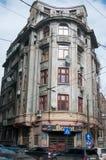 De oude gebouwen van Boekarest Stock Afbeelding