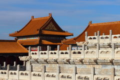 De oude gebouwen van China in het Keizerpaleis Royalty-vrije Stock Foto