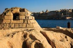 De oude geconstrueerde opslagbouw, Malta Stock Foto's