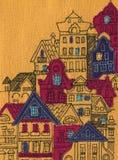 De oude gele Stad stock afbeelding
