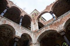 De oude geruïneerde synagogebouw in Vidin, Bulgarije royalty-vrije stock afbeelding