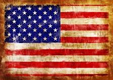 De oude geschilderde vlag van de V.S.