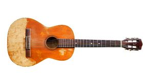 De oude gitaar royalty-vrije stock foto