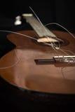 De oude gitaar Stock Foto
