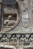 De oude Godsdienstige Gravures van de Rots Stock Foto's