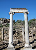 De Oude Griekse Stad van Perga, Antalya. Stock Foto