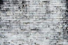 De oude grijze achtergrond van de bakstenen muurtextuur Ruwe Bakstenen muur Backgro stock afbeelding