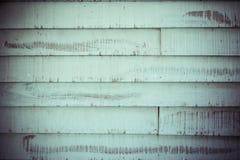De oude groene houten textuur en de achtergrond van de plankvloer Stock Fotografie