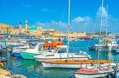 De oude haven van Acre stock fotografie