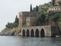 De oude haven van Alanya Royalty-vrije Stock Afbeelding