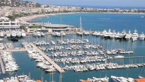De oude haven van Cannes stock footage