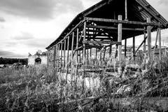 De oude het uitspreiden zich dorpsbouw stock afbeeldingen