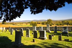 De oude Historische Begraafplaats van het Land Royalty-vrije Stock Afbeeldingen