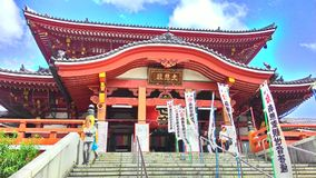 De oude historische tempel van Japan royalty-vrije stock afbeelding