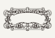 De oude Hoge Overladen Achtergrond van de Banner Royalty-vrije Stock Afbeeldingen