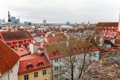 De oude hoogste mening van stadstallinn stock fotografie