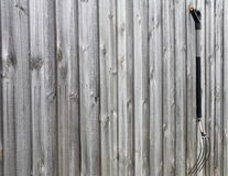 De Oude hooivork op houten achtergrond, Royalty-vrije Stock Foto's